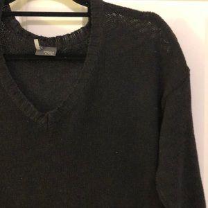 black crop top sweater